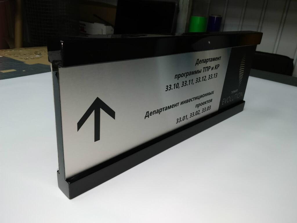 Табличка-указатель для системы навигации